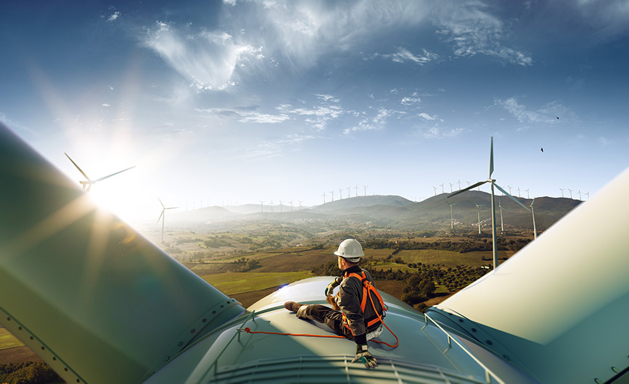 Picture of wind turbines — environmental sustainability is an important part of ESG compliance